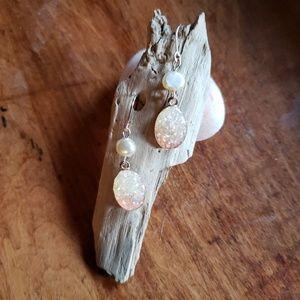 Japanese Dainty Rose Gold Sparkling Earrings